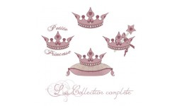 Collection de motifs de broderie machine couronne de princesse