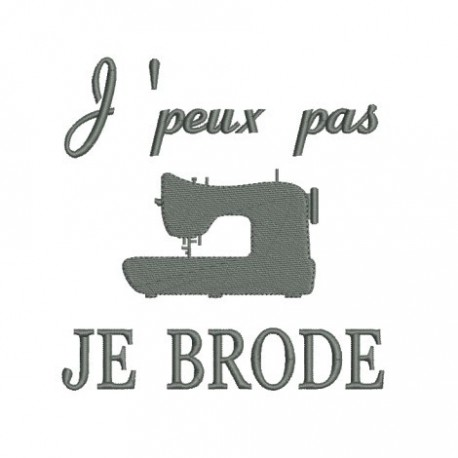 Motif de broderie machine citation de Simone de Beauvoir.