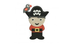 Motif de broderie machine petit pirate.